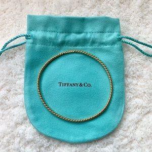 Tiffany & Co. - 18k Yellow Gold Twist Rope Bangle